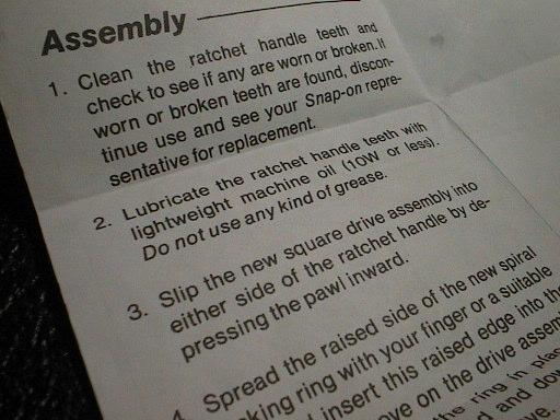 repair kit inst.